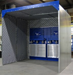 EBM-6 Booth with Sound Material